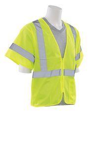 Class 3 Hi-Viz Lime Mesh Vest w-Zipper