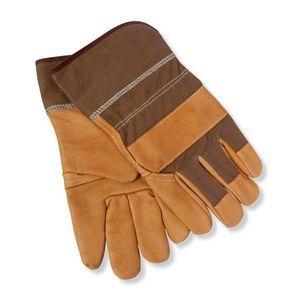 Leather- Denim Work Gloves
